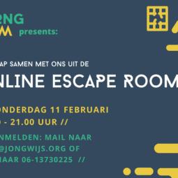 Doe mee met de online escape room op 11 februari!
