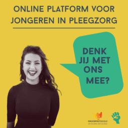 Denk mee over een online platform voor jongeren in de pleegzorg!